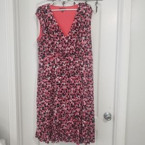 Glamour pink & black print sleeveless dress sz 20